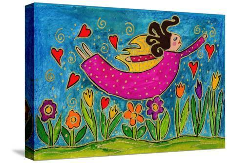 Big Diva Sprinkling Garden with Love-Wyanne-Stretched Canvas Print
