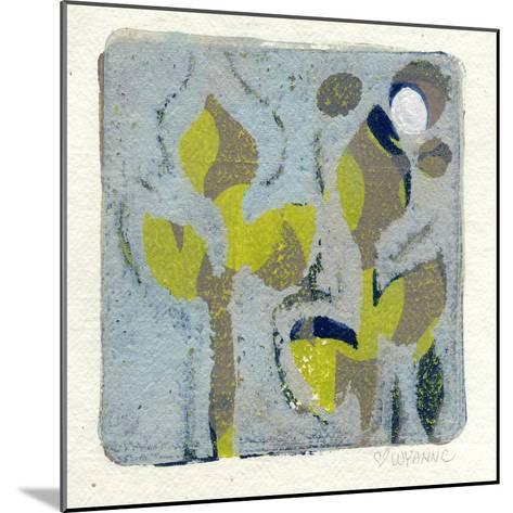 Gray Flowers Monoprint-Wyanne-Mounted Giclee Print