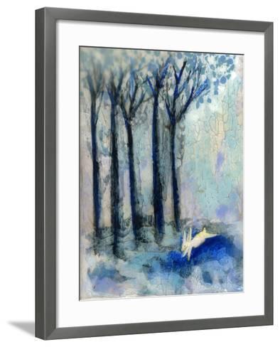 White Rabbit-Wyanne-Framed Art Print