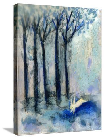 White Rabbit-Wyanne-Stretched Canvas Print