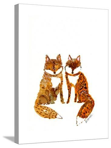 Two Baby Foxes-Wyanne-Stretched Canvas Print