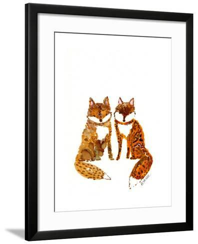Two Baby Foxes-Wyanne-Framed Art Print