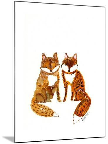 Two Baby Foxes-Wyanne-Mounted Giclee Print