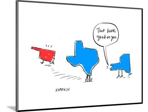 """That looks good on you."" - Cartoon-David Sipress-Mounted Premium Giclee Print"