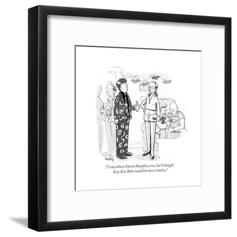 """I was almost David Pumpkins too, but I thought Sexy Ken Bone would be mor?"" - Cartoon-Benjamin Schwartz-Framed Art Print"