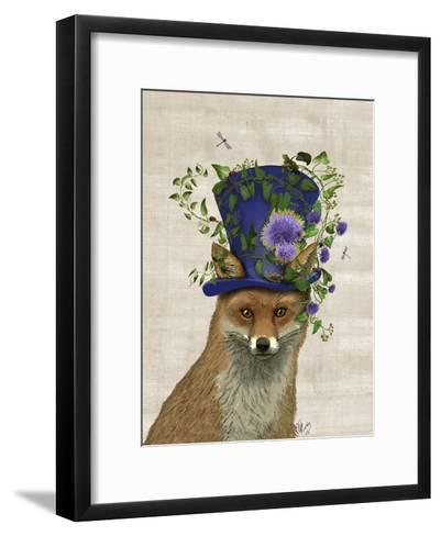 Fox Mad Hatter-Fab Funky-Framed Art Print