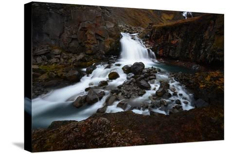 Rjukandifoss Waterfall in Iceland-Raul Touzon-Stretched Canvas Print