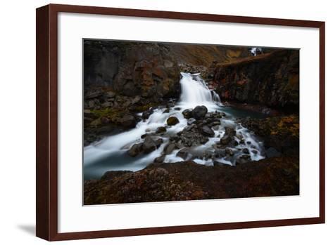 Rjukandifoss Waterfall in Iceland-Raul Touzon-Framed Art Print