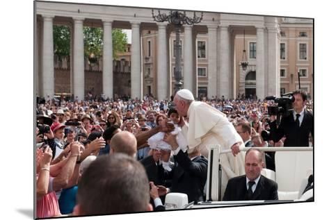 Pope Francis Attends His Weekly Audience in Saint Peter's Square-Lori Epstein-Mounted Photographic Print