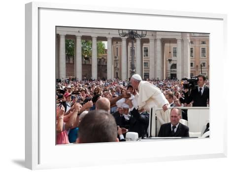 Pope Francis Attends His Weekly Audience in Saint Peter's Square-Lori Epstein-Framed Art Print