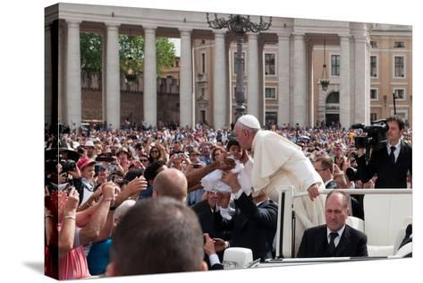 Pope Francis Attends His Weekly Audience in Saint Peter's Square-Lori Epstein-Stretched Canvas Print