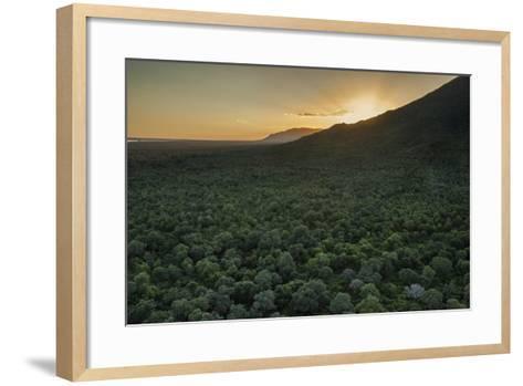 Aerial View of the Lower Zambezi Valley Escarpment in Zambia-Matthew Hood-Framed Art Print