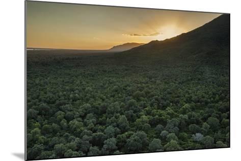 Aerial View of the Lower Zambezi Valley Escarpment in Zambia-Matthew Hood-Mounted Photographic Print