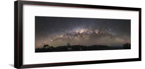 The Milky Way Arc Setting over the Siding Spring Observatory in Australia-Babak Tafreshi-Framed Art Print