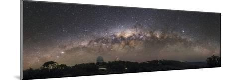 The Milky Way Arc Setting over the Siding Spring Observatory in Australia-Babak Tafreshi-Mounted Photographic Print