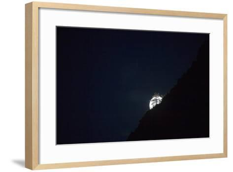 The Full Moon Rising in Zion National Park-Ben Horton-Framed Art Print