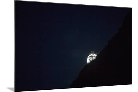 The Full Moon Rising in Zion National Park-Ben Horton-Mounted Photographic Print