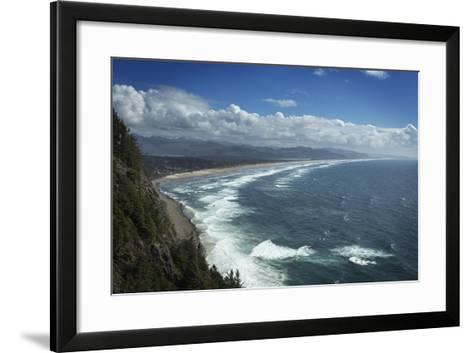Nehalem Bay Seen from Neahkahnie Mountain, Oregon-Macduff Everton-Framed Art Print