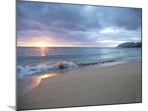 Waves Roll on Beach During Sunrise-Chad Copeland-Mounted Photographic Print