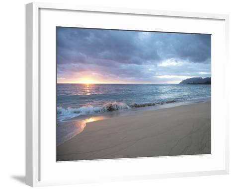 Waves Roll on Beach During Sunrise-Chad Copeland-Framed Art Print