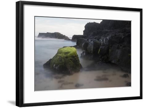 Mossy Rocks in the Surf-Gabby Salazar-Framed Art Print