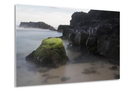 Mossy Rocks in the Surf-Gabby Salazar-Metal Print