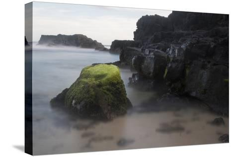 Mossy Rocks in the Surf-Gabby Salazar-Stretched Canvas Print