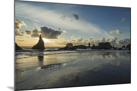Seascape with Pinnacles at Bandon Beach in Bandon, Oregon-Macduff Everton-Mounted Photographic Print