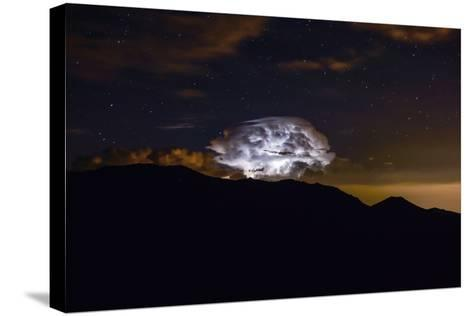 Storm Cloud over the Mummy Range in Rocky Mountain National Park, Colorado-Keith Ladzinski-Stretched Canvas Print
