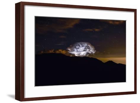 Storm Cloud over the Mummy Range in Rocky Mountain National Park, Colorado-Keith Ladzinski-Framed Art Print