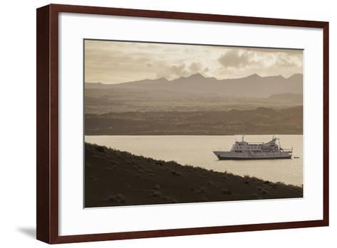 A Passenger Expedition Ship Cruises the Galapagos Islands-Jad Davenport-Framed Art Print