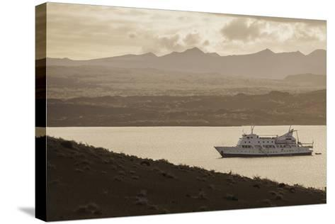 A Passenger Expedition Ship Cruises the Galapagos Islands-Jad Davenport-Stretched Canvas Print