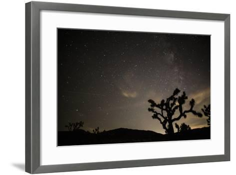 The Star-Filled Night Sky over Lost Horse Valley in Joshua Tree National Park-Kent Kobersteen-Framed Art Print
