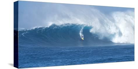 Surfer Riding a Maverick Wave on the North Shore of Maui-Chad Copeland-Stretched Canvas Print