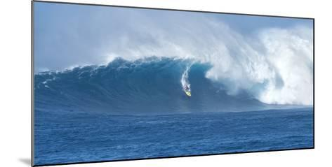 Surfer Riding a Maverick Wave on the North Shore of Maui-Chad Copeland-Mounted Photographic Print