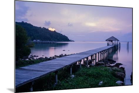 A Dock on an Island in Cambodia's Kompong Som Region-Hannah Reyes-Mounted Photographic Print
