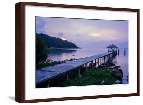 A Dock on an Island in Cambodia's Kompong Som Region-Hannah Reyes-Framed Art Print