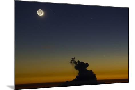 Full Moon in Sky with Colorful Twilight Horizon from the Summit of Haleakala, Hawaii-Babak Tafreshi-Mounted Photographic Print