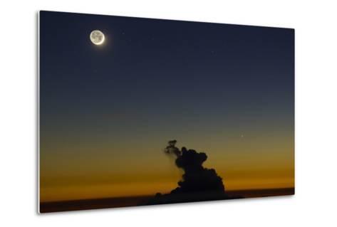 Full Moon in Sky with Colorful Twilight Horizon from the Summit of Haleakala, Hawaii-Babak Tafreshi-Metal Print