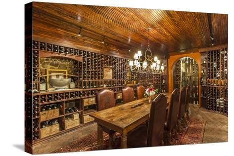 The Wine Cellar in the Antrim 1844, a Restored Plantation House in Maryland-Richard Nowitz-Stretched Canvas Print