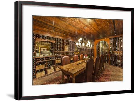 The Wine Cellar in the Antrim 1844, a Restored Plantation House in Maryland-Richard Nowitz-Framed Art Print