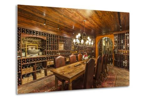 The Wine Cellar in the Antrim 1844, a Restored Plantation House in Maryland-Richard Nowitz-Metal Print