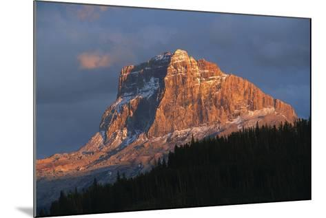 Scenic View of Mountain with Silhouette of Trees-Cagan Sekercioglu-Mounted Photographic Print