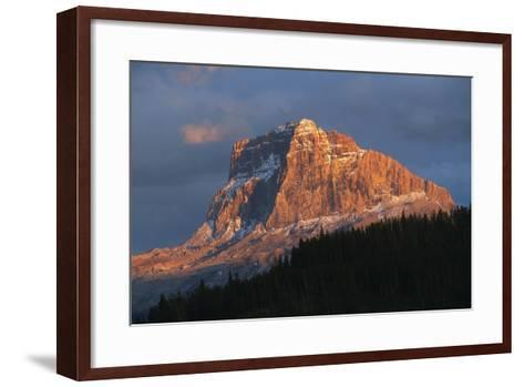 Scenic View of Mountain with Silhouette of Trees-Cagan Sekercioglu-Framed Art Print