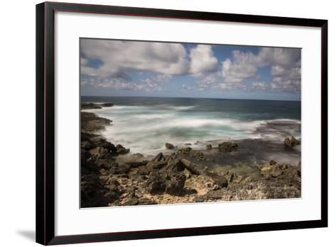 View of the Indian Ocean and Rocky Shore of a Tiny Offshore Island-Gabby Salazar-Framed Art Print