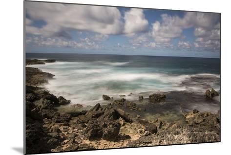 View of the Indian Ocean and Rocky Shore of a Tiny Offshore Island-Gabby Salazar-Mounted Photographic Print