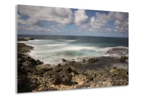 View of the Indian Ocean and Rocky Shore of a Tiny Offshore Island-Gabby Salazar-Metal Print