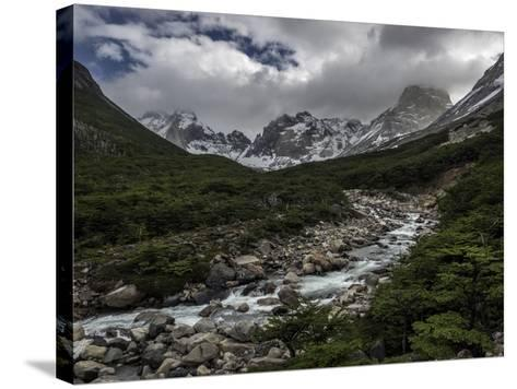 Rio Del Frances in Torres Del Paine National Park-Jay Dickman-Stretched Canvas Print