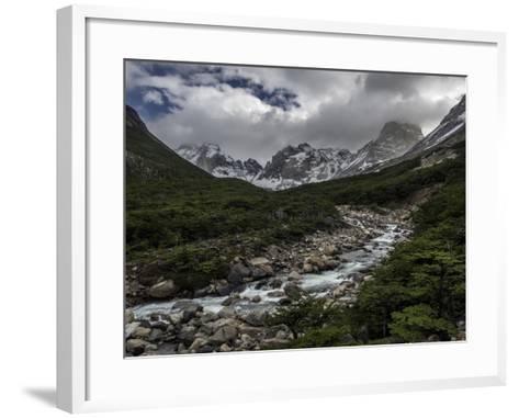 Rio Del Frances in Torres Del Paine National Park-Jay Dickman-Framed Art Print