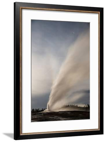 Old Faithful Erupts in Yellowstone National Park's Upper Geyser Basin-Michael Nichols-Framed Art Print